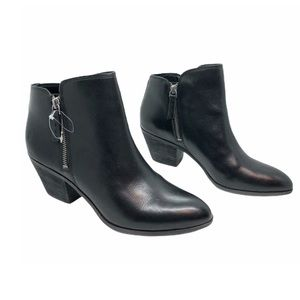 NWOB-FRYE•Black Leather Ankle Boots Western Style
